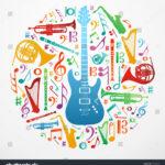 stock vector multicolored music instruments silhouette in circle shape vector file available 91376600 150x150 - دانلود آهنگ تو میتونی دلمو شاد کنی منو از درد و غم آزاد کنی از اما